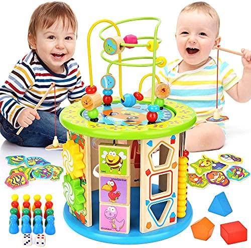 アクティビティキューブ10 1赤ちゃん教育玩具木造活動センタービーズ迷路1歳の男の子と女の子幼児 Upgrade