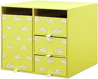 プラス 収納ボックス リビングポストII Sサイズ ニシワキタダシ ぐーたら柄 85-692