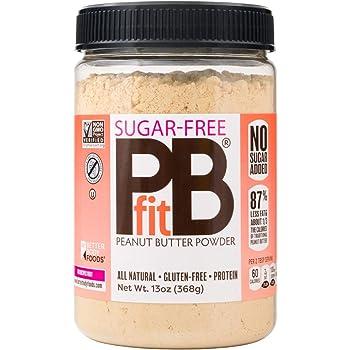 BetterBody Foods PBfit Sugar-Free All-Natural Peanut Butter Powder 368g (13 Ounces)