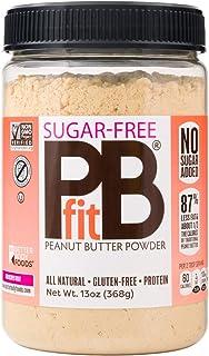 PBfit All-Natural Peanut Butter Powder, Sugar-Free Powdered Peanut Spread from Real Roasted Pressed Peanuts, 368g (13oz)