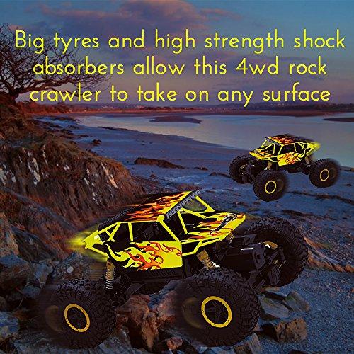 RC Auto kaufen Monstertruck Bild 5: Top Race Ferngesteuerter Monster Truck RC Rock Crawler, 2,4 GHz Sender, 4WD Off Road RC-Auto - TR-130Y*