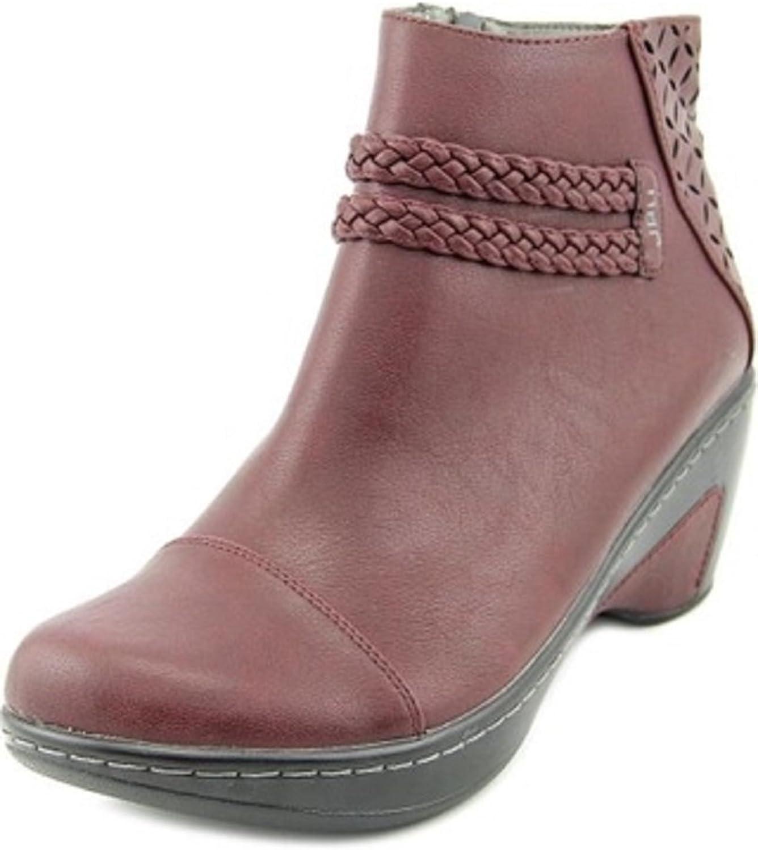Jambu Women's Cabernet Burgundy Faux-Leather Round Toe Ankle Boot - 11 B(M) US