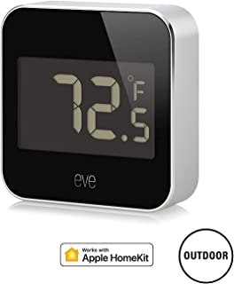 Eve Degree - 3 Pack - Connected Weather Station for Tracking Temperature, Humidity & Air Pressure; IPX3 Water Resistance, Display, no Bridge Necessary, Bluetooth (Apple HomeKit)