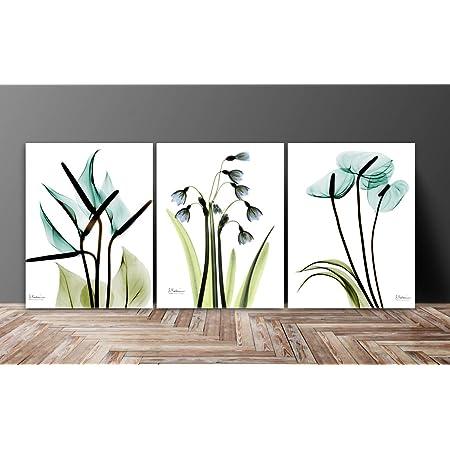 SAF Flower Designer Multieffect UV Textured Panel Painting, Set of 3, 12 X 27 inch (SAhNFC12265)