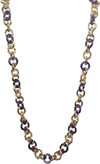 N-ENAMEL AND ROPE CHAIN NECKLAGE (GOLD/PURPLE) COLOR) . STYLE # YJRU66 72