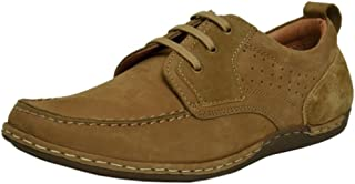 Zoom Casual Shoes for Men Genuine Leather Shoes Online 2071-Tan Colour