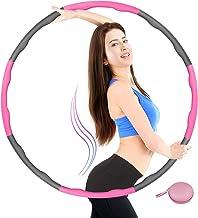 Tumax Hoelahoep Fitness, Opvouwbare Fitnessgolf Gewogen 1 kg, Secties Aanpasbaar met Zacht Schuim, Professionele Fitness H...