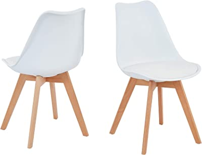 Baita Helga - Juego de 2 sillas, 82 cm, Color Negro