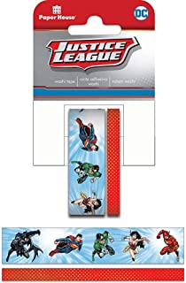 Paper House Productions DC Comics Justice League Heroes Set of 2 Foil Accent Washi Tape Rolls for Scrapbooking and Crafts