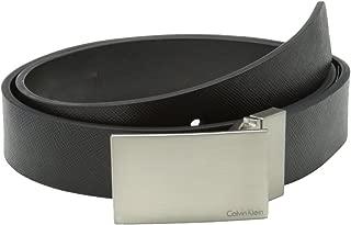 Calvin Klein 卡尔文·克莱恩 男式32毫米 双面皮带带斑扣标识