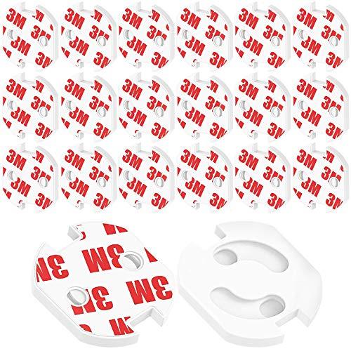 Steckdosen-Kindersicherung zum Kleben 20 Stk Steckdosensicherung für Steckdosen mit Drehmechanik steckbar Steckdosenschutz für Babys Kleikinder für alle gängigen Steckdosen