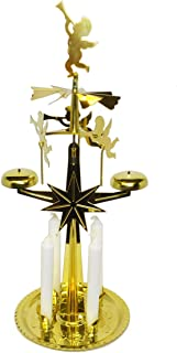 Angel Chimes Christmas with Candles - Santa, Brass.