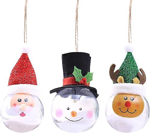 2021 RiamxwR Luminous Transparent outlet sale Ball for Christmas Tree Decoration lowest Transparent Ball Christmas Tree Pendants, Mini Xmas Tree Pendants Home Decor (3pcs) online sale