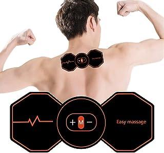 Faviye EMS Estimulador Muscular Portátil Inteligente Masajeador de Cuello Entrenador Abdominal para Auto Office en casa