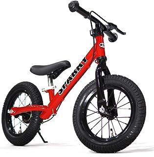 【組立済】【キックスタンド付き】 ブレーキ付ゴムタイヤ装備 ペダルなし自転車 キッズバイク SPARKY スパーキー