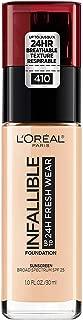 L'Oréal Paris Makeup Infallible up to 24HR Fresh Wear Liquid Longwear Foundation, Lightweight, Breathable, Natural Matte Finish, Medium-Full Coverage, Sweat & Transfer Resistant, Ivory, 1 fl. oz.