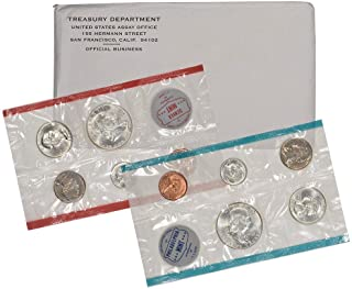 1963 US Mint 10-Coin Uncirculated Silver P&D Mint Coin Set in OGP BU