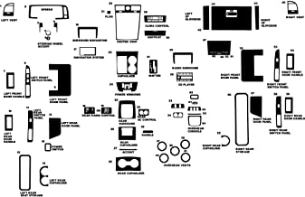 Rvinyl Rdash Dash Kit Decal Trim for Lincoln Navigator 2005-2006 - Wood Grain (Burlwood Matte)
