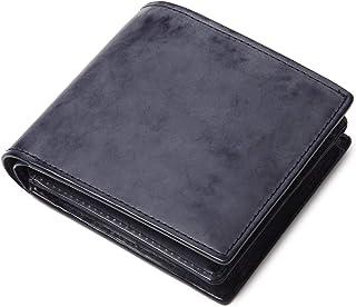 [ラファエロ] Raffaelo 英国王室が愛する表裏フルブライドルレザー メンズ二つ折り財布 (ブリティッシュネイビー)