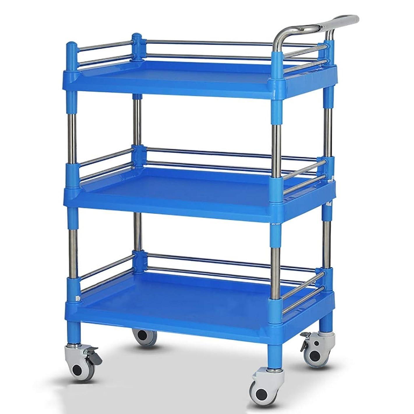 ノベルティ伸ばすロデオ美容院の医学の移動式カート、多機能の器械用具の変更の薬車のプラスチックステンレス鋼の棚 (サイズ さいず : 64.5*44.5*100cm)