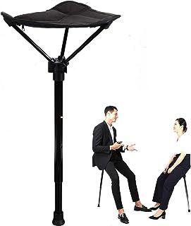 chongwu Lichte klapstoel, klapkruk, klapstoel, instelbare en draagbare hoge stoel, licht en sterk, voor jacht, wandelen, r...