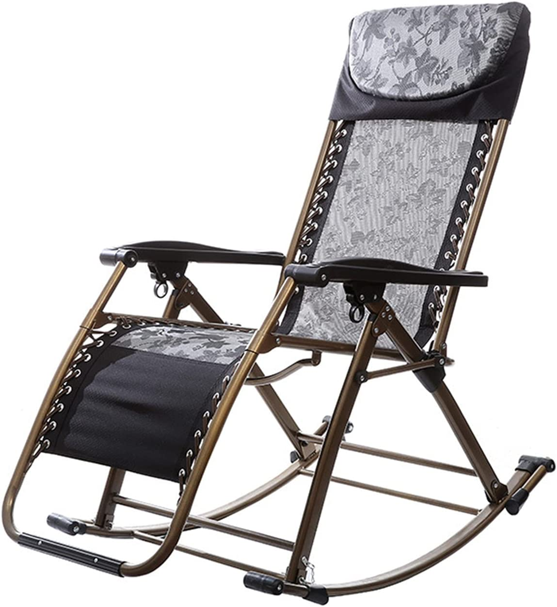 Free shipping anywhere in the nation BKWJ Garden Foldable Rocking Zero-Grav Adjustable Chair Outdoor Ranking TOP18