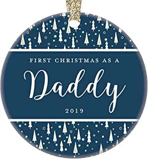 New Daddy 2019 Holiday Ornament Baby Boy Girl Special Snowflake Classic Christmas Tree Gift Decor 1st Xmas Newborn Collectible Congratulations Blessed Keepsake 3