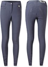 Lauria Garrelli HKM Glorenza Ladies Denim Breeches Knee Grip Riding Jeans Silicone Full Seat Equestrian Elasticated Slim Trouser