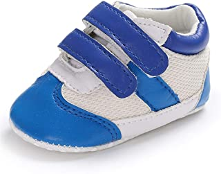 XYAN Boy Baby 0-1 Years Sports Soft Bottom Antiskid Walking Shoes Mesh Permeable Double Magic Tape (Color : Light blue, Si...