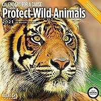 Bright Day 2021 Protect Wild Animals 壁掛けカレンダー 12 x 12インチ レスキュー絶滅危惧カレンダー