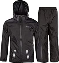 SWISSWELL Rain Suit for Kids Waterproof Hooded Rainwear (Jacket & Trouser Suit)