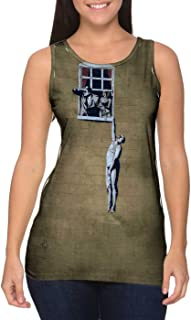 Yizzam- Graffiti Banksy Window Lover -Tshirt- Womens Tank Top