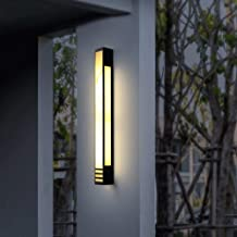 Mopoq Outdoor new Chinese style waterproof wall staircase wall lamp Simple household led outdoor villa courtyard garden ga...