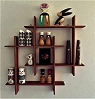 ANTICO WOODENIA® Extra Large Wooden Dual Square Wall Shelf| Wall Mount| Wall Rack| Wall Bracket| Wall Cabinet| Floating...