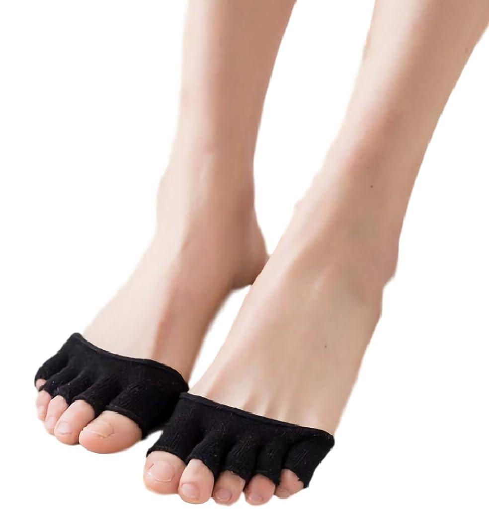 生まれ干渉する加害者[ルビタス] 指穴 開き パンプス サンダル ハーフ ソックス 歩きやすい 靴下