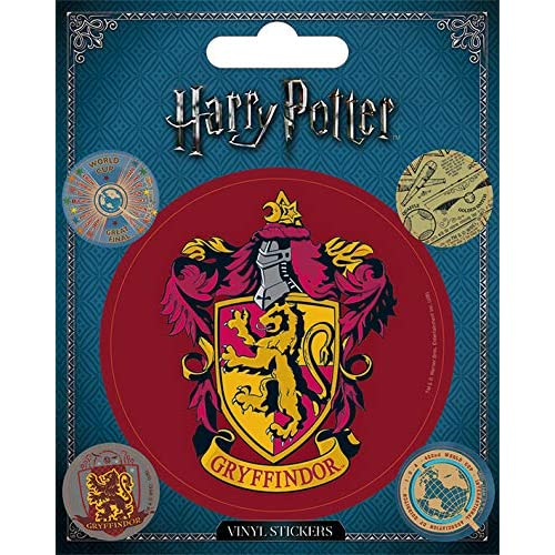 Wizarding World Harry potter-gryffindor sticker in vinile, multicolore, 10 x 12.5 cm