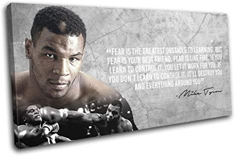 Boxing Mike Tyson Fire Abstract Sports SINGLE CANVAS WALL ART Picture Print