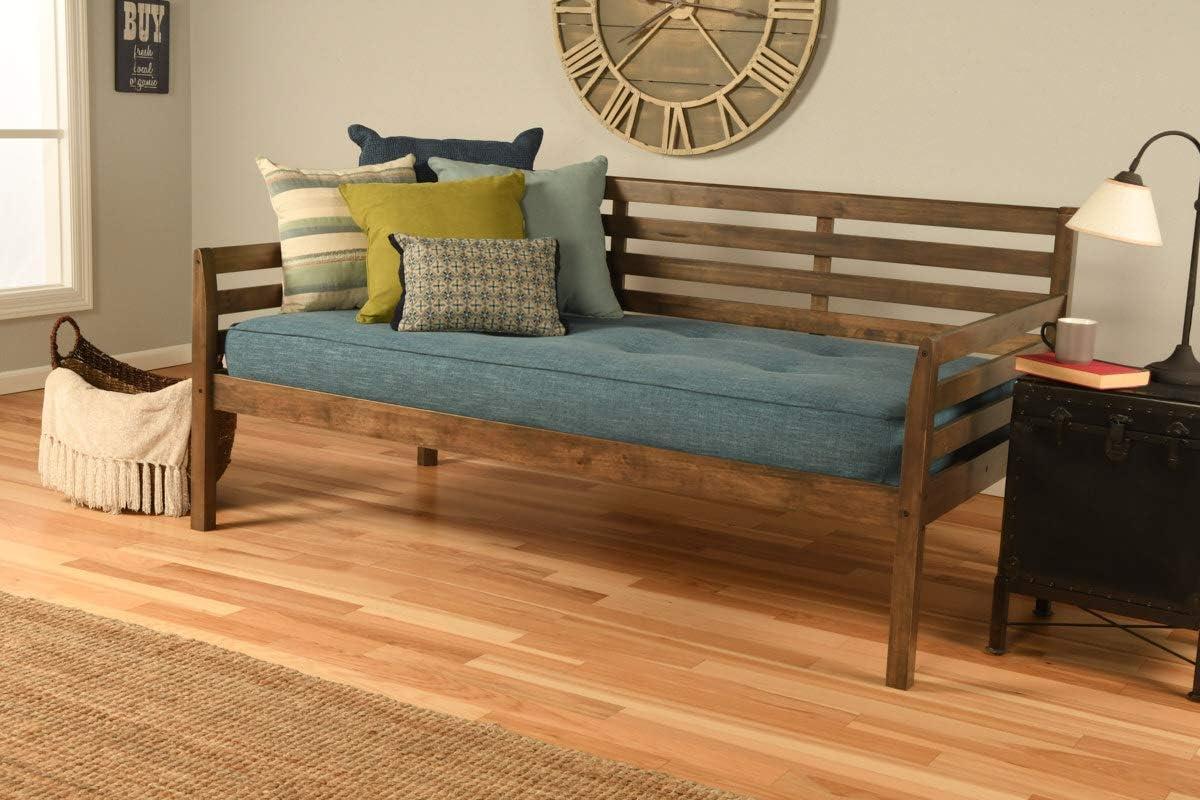 Max 41% OFF Kodiak Furniture Boho Daybed Inexpensive Twin Rustic Walnut Finish