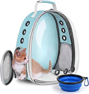 Cat Backpack Carrier Bubble,Large TransparentPet Backpack Bag,Portable Ventilated Carry Backpack for Cat & Small Dog,Airl...