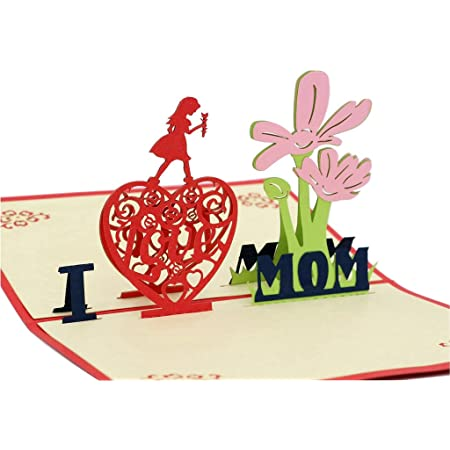 Mother/'s Day Card 3D Pop Up Card Gift Card