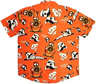 Route One Apparel | Officially Licensed Natty BOH Baseball Orange Hawaiian Shirt
