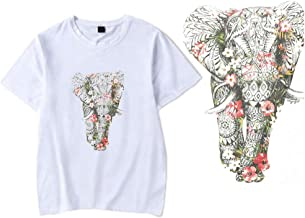 DIY Clothes T-Shirt Patches Stickers Ironing on Heat Transfer A-Level Washable Iron-on Stickers (Elephant)