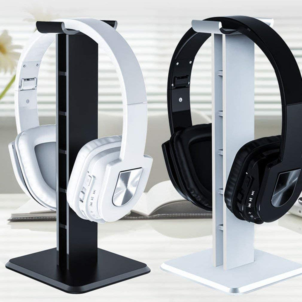 NA Consumerelectronics Z1 Universal Headphone Stand Acrylic Headset Earphone Stand Holder Display for Gaming Headsets white white