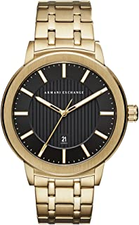Armani Exchange Gold-Tone Stainless Steel Watch AX1456