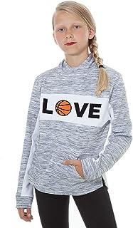 سترة بغطاء رأس لكرة السلة - سويت شيرت برقبة قمع رياضي لمحبي ملابس اللاعبين والبنات