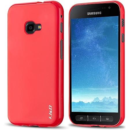 J&D Compatible para Galaxy Xcover 4 Funda, [Cojín Fino] [Parachoques Ligero] [Protección contra Caídas] Resistente Funda TPU Protectora para Samsung Galaxy Xcover 4 - Rojo