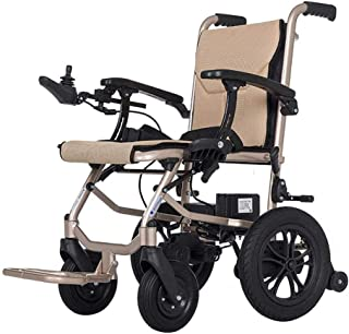 H&1 Electric Wheelchair Electric Powered Folding Lightweight, Removable Lithium Battery Mobility Chair, Motorized with Ant...