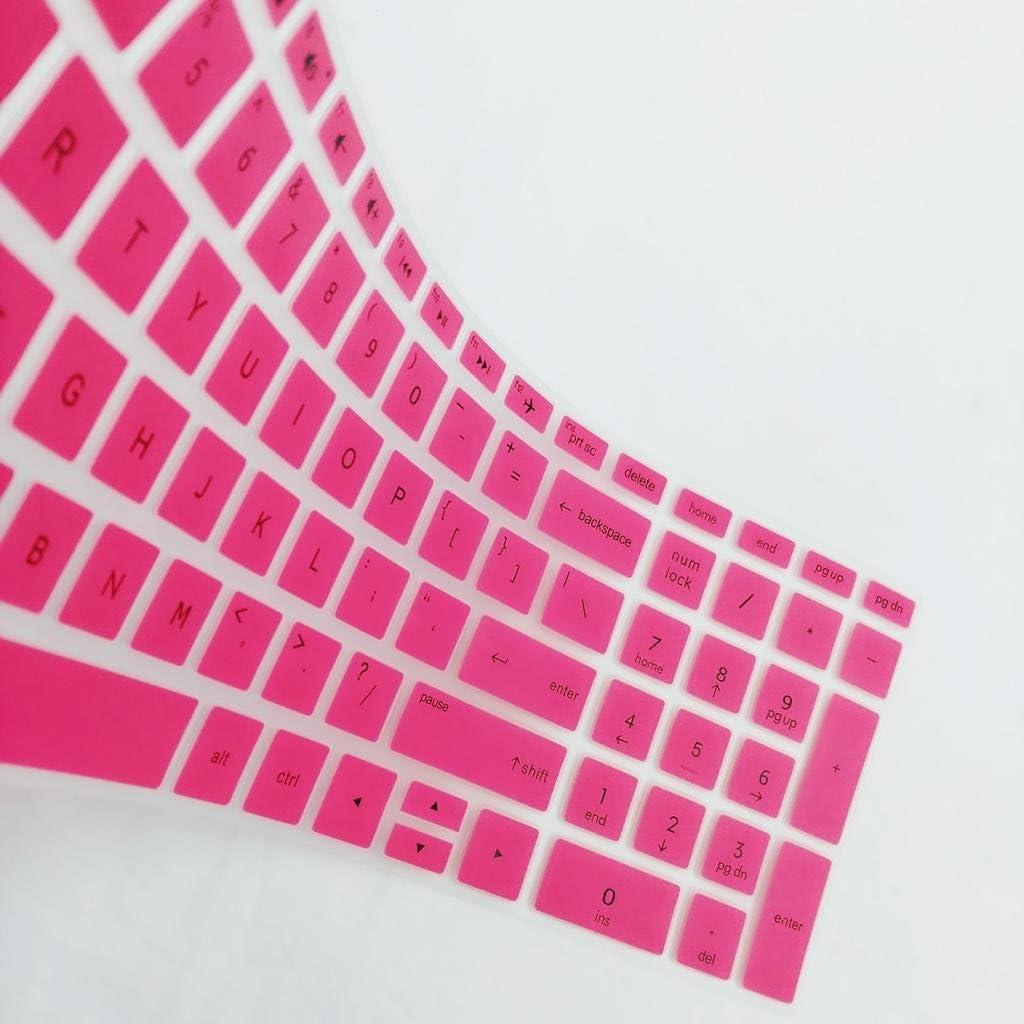 Rosa kokiya Anti Staub Silikon Haut Tastaturschutz F/ür HP 15,6 Zoll BF Computer Laptop
