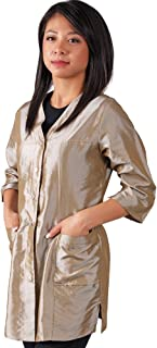 JMT Beauty 3/4 Sleeve Champagne Salon Smock (S(6))