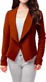 Womens Light Weight Casual Work Office Open Front Blazer Cardigan Jacket Made in USA (S-3X)